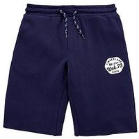 Timberland Boys Logo Jersey Sweat Short, Navy, Size 12 Years
