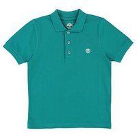 Timberland Boys Short Sleeve Classic Polo, Green, Size 10 Years