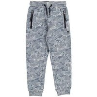 Timberland Boys Print Tapered Jogging Bottoms, Chine Grey, Size 8 Years