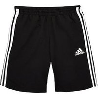 adidas Younger Boys Long Short, Black, Size 7-8 Years