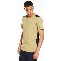 NATIVE YOUTH Hurton Block Tshirt, Camel, Size Xl, Men