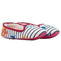 Joules Joules Slip On Clematis Stripe Floral Slipper, Clematis Stripe, Size 4, Women