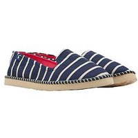 Joules Flipadrille French Navy Stripe Espadrille, French Navy Stripe, Size 3, Women