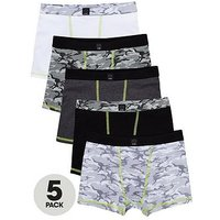 Boys, V by Very 5 Pack Camo Trunks, Multi, Size 11 Years