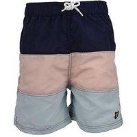 Lyle & Scott Boys Colourblock Swim Short, Navy, Size Age: 4-5 Years