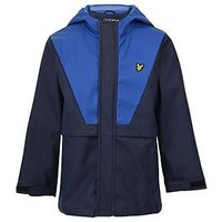 Lyle & Scott Boys Zip Through Showerproof Jacket, Navy, Size Age: 8-9 Years