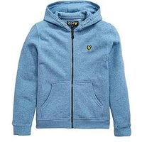 Lyle & Scott Boys Classic Zip Through Hoody, Mist Blue Marl, Size 14-15 Years