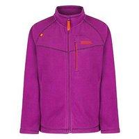 Regatta Girls Marlin V Fz Fleece Jacket, Violet, Size 11-12 Years, Women