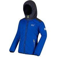 Regatta Boys Volcanics Reflective Jacket, Blue/Grey, Size 5-6 Years