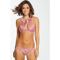 Myleene Klass Lace High Neck Pull On Bralette - Blush, Blush, Size 32Dd, Women