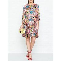 Ps Paul Smith Enso Floral Print Pleated Dress - Pink