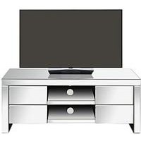 Monte Carlo Ready Assembled Mirrored Tv Unit - Fits Up To 49 Inch Tv