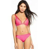 Wonderbra Refined Glamour Triangle Bra - Pink, Pink, Size 34C, Women