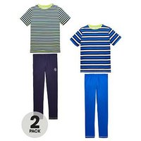 Boys, V by Very 2 Pk Stripe Pj Set, Stripe, Size Age: 7 Years
