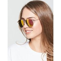 V by Very Colour Pop Aviator Style Sunglasses - Pink/Orange, Purple/Pink, Women