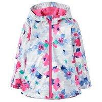 Joules Raindance Rubber Coat, Lily Pond Stripe, Size 6 Years, Women