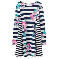Joules Girls Loralie Jersey Trapeze Dress, Margate Floral, Size 5 Years, Women