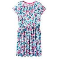 Joules Girls Jude Cream Garden Ditsy Jersey Dress, Cream, Size 6 Years, Women