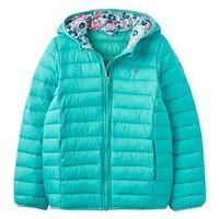 Joules Girls Kinnaird Padded Jacket, Bright Aqua, Size 11-12 Years, Women