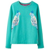 Joules Cassidy Loopback Sweatshirt, Bright Aqua, Size Age: 9-10 Years, Women