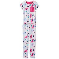 Joules Rosalie Printed Jumpsuit, Lily Pond Stripe, Size 7-8 Years, Women