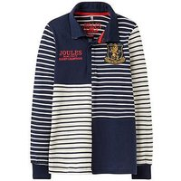 Joules Boys Try Rugby Shirt, French Navy, Size 5 Years