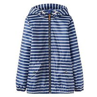 Boys, Joules Rowan Waterproof Jacket, Dark Blue Stripe, Size Age: 11-12 Years