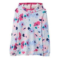 Joules Marlston Hooded Sweatshirt, Lily Pond Stripe, Size Age: 7-8 Years, Women
