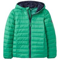 Joules Boys Cairn Green Padded Jacket, Apple Green, Size Age: 7-8 Years