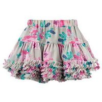 Joules Girls Lilian Grey Rosebud Tutu Skirt, Grey Rosebud, Size Age: 1 Year, Women