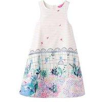 Joules Bunty Woven Dress, Kew Border, Size 4 Years, Women