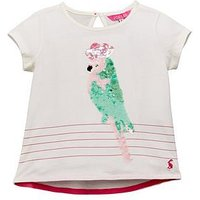 Joules Girls Maggie Applique T-Shirt, Cream, Size Age: 1 Year, Women