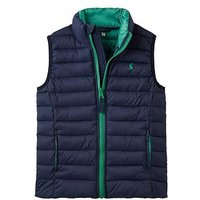 Joules Boys Crofton Padded Packaway Gilet, French Navy, Size Age: 4 Years