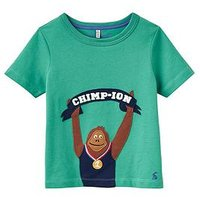 Boys, Joules Archie Applique Jersey T-shirt, Apple Green, Size 4 Years