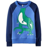 Boys, Joules Rogan Novelty Sweat, Dazzling Blue, Size 1 Year