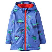 Boys, Joules Skipper Rubber Coat, Blue Dino Paddle, Size Age: 4 Years