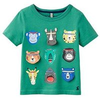 Boys, Joules Chomp Applique Jersey Top, Apple Green, Size 1 Year
