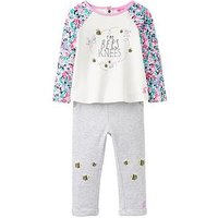 Joules Baby Girls Amalie Ditsy Bees Knees 2 Piece Outfit, Ditsy Bees Knees, Size 0-3 Months