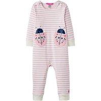 Joules Baby Girls Gracie Applique Babygrow, Neon Mauve, Size 9-12 Months