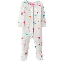 Joules Baby Girls Razamataz All Over Print Babygrow, Cream, Size 3-6 Months