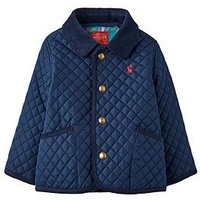 Joules Baby Boys Milford Quilted Jacket, Navy, Size 9-12 Months
