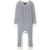 Joules Baby Boys Webley Waffle Babygrow, Navy Stripe, Size 3-6 Months