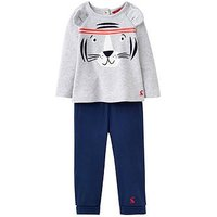 Joules Baby Boys Mack Novelty Set, Grey Tiger, Size 18-24 Months
