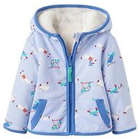 Joules Baby Boys James Reversible Fleece, Sky Blue, Size 12-18 Months