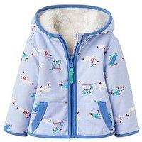 Joules Baby Boys James Reversible Fleece, Sky Blue, Size 12-18 Months