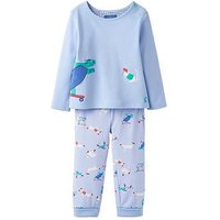 Joules Baby Boys Byron Applique 2 Piece Set, Sky Blue, Size 3-6 Months