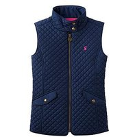 Joules Girls Silvan Quilted Gilet, French Navy, Size 7-8 Years, Women