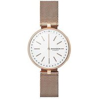 Skagen SKAGEN CONNECTED SIGNATUR ROSE GOLD STAINLESS STEEL HYBRID SMARTWATCH, One Colour, Women
