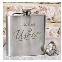 Personalised Wedding Hip Flask, One Colour, Size Groom, Women