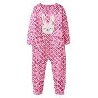 Joules Baby Girls Gracie Applique Babygrow, Bunny Tile Geo, Size 12-18 Months